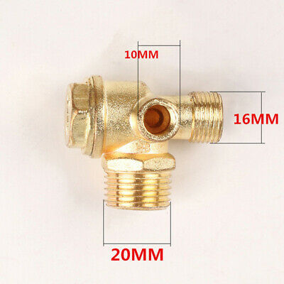 3-Port Brass Threaded Check Valve Connector Tool For Air Compressor 10/12/20mm