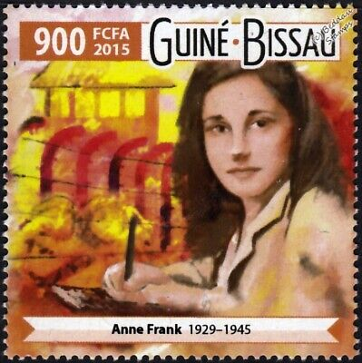 Diary of ANNE FRANK (1929-1945) WWII Concentration Camp Stamp (2015)