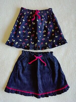 2 x girls skirts age 12-18 months Marks and Spencer blue/floral v. good con