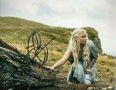 Emilia Clarke GAME OF THRONES 8X10 AUTOGRAPHED Photo   Reprint