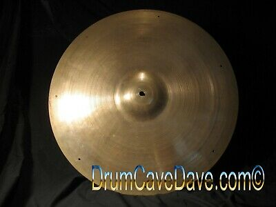 """VINTAGE 1950s/60s 22"""" ZILDJIAN SIZZLE RIDE CYMBAL, SUPERB CONDITION!  DEMO VIDEO"""
