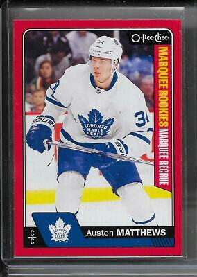 16-17 O-Pee-Chee Marquee Rookie Red Parallel #694 Auston Matthews Rc Maple Leafs