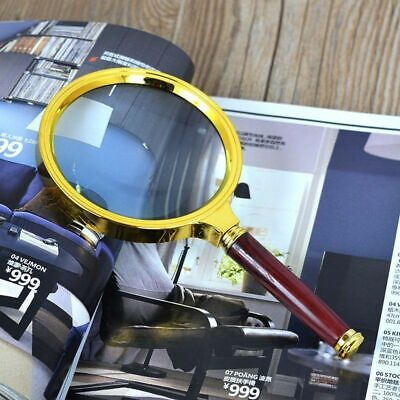 10X Magnifier Magnifying Glass Loupe Reading Jewelry 90mm US Handheld
