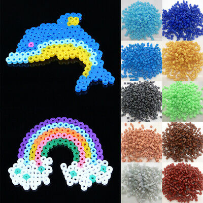 500/1000PCs 5mm Hama Beads Perler Beads for Child Gift Kids Great Fun DIY Craft