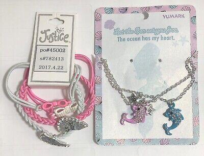 7da47358658aa LOT OF 3 Justice for Girls BFF Burger & Fries Bracelet NWT and Gift ...