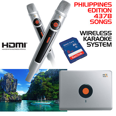 Miic Star Ms-62 Philippines Karaoke System, Wireless Mics - With 4378 Songs