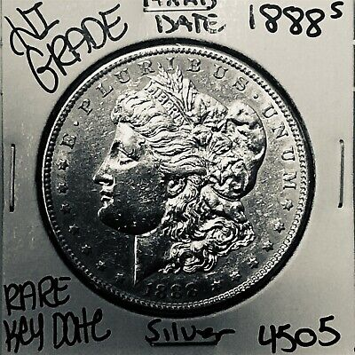 1888 S Morgan Silver Dollar Hi Grade Genuine U.s. Mint Rare Key Coin 4505