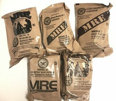 5 Stück US ARMY Einmannpackung MRE Meal Ready to eat Outdoor Camping Verpflegung