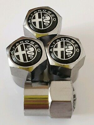 ALFA ROMEO Plastic Wheel Valve Dust caps all models CHROME 7 COLOURS