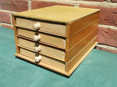 Letterpress Printing Adana Wooden Sectional Type draw Cabinet with 4 small cases