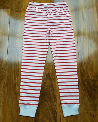 Mini Boden Girls Red White Stripe Long Pyjamas Bottoms Age 6 Years Brand New