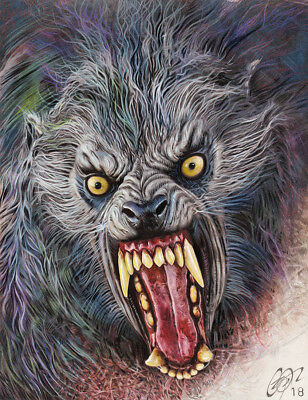 'American Werewolf in London' c High Quality Art Print Signed Frederick Cooper
