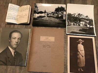 1926 Handwritten Diary Whitaker Beverly Hills Millionaires Hollywood Mansion