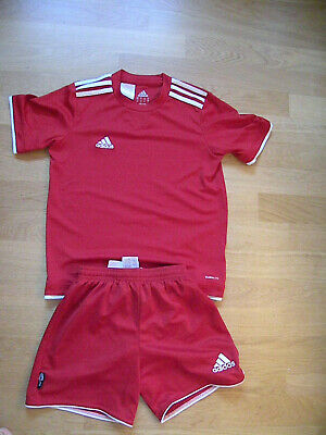 presenting outlet on sale clearance prices ADIDAS FUSSBALL-SET (TRIKOT und Short) Gr. 140, CLIMALITE ...