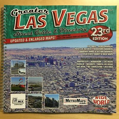 2019-20 Metro Maps *Greater Las Vegas Street Guide & Directory* 23rd Edition NEW