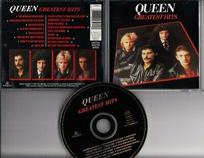 QUEEN GREATEST HITS 1994 CD REMASTER ITALY Bohemian Rhapsody Killer Queen