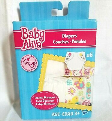Hasbro Baby Alive Diapers Accessory 6 Pack Box 2013