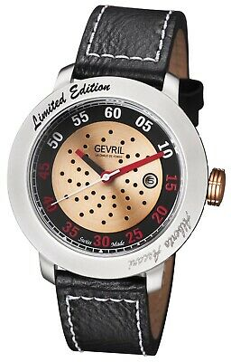 GV2 by Gevril 1100 Alberto Ascari Limited Edition Automatic Leather Men's Watch