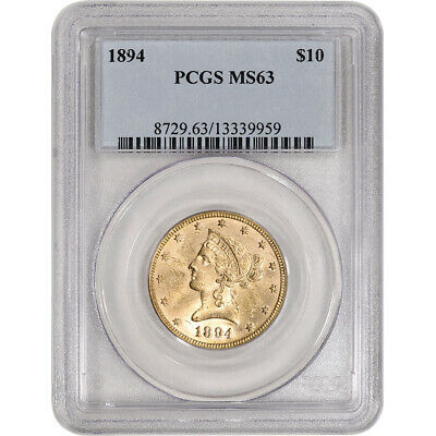 US Gold $10 Liberty Head Eagle - PCGS MS63 - Random Date