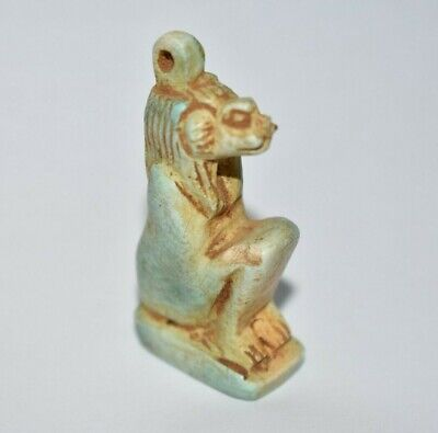 ANCIENT EGYPT ANTIQUE Egyptian stone Sekhmet amulet  600 B.C