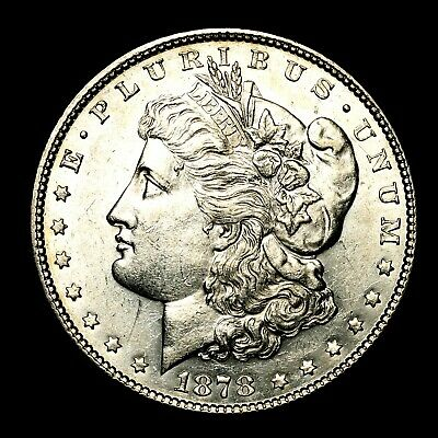 1878 P ~*ABOUT UNCIRCULATED AU**~ Silver Morgan Dollar Rare US Old Coin! #Y63