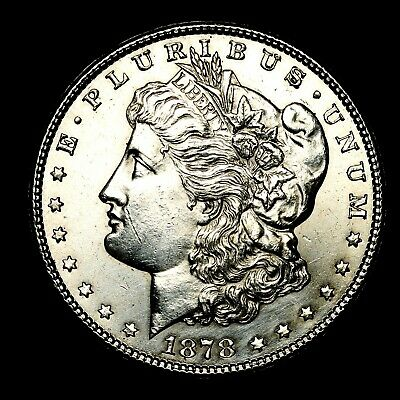 1878 S ~**ABOUT UNCIRCULATED AU**~ Silver Morgan Dollar Rare US Old Coin! #L12