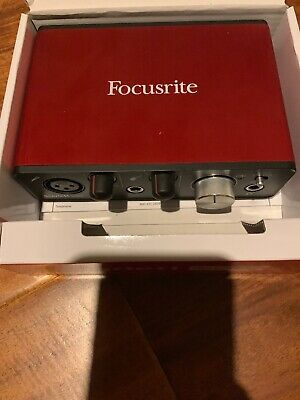 Focusrite Scarlett Solo 2nd Generation USB Audio Interface - Red