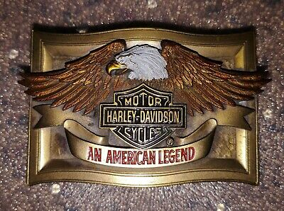 Vintage Harley Davidson An American Legend B&S Dress Belt Buckle New