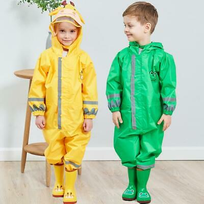 Children Kids Unisex Raincoat Rain Coat Poncho Cape Tarp Backpack Cover Raincoat