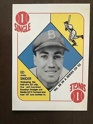 2019 Topps Duke (Ed) Snider Brooklyn Dodgers SP Baseball Card