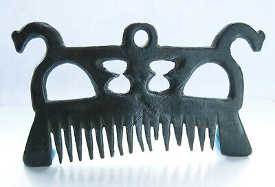 Very rare genuine Viking bronze comb