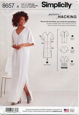 8914127534 Simplicity Sewing Pattern 8657 Misses 4-26 Caftan W/ Design Options - Plus  Sizes