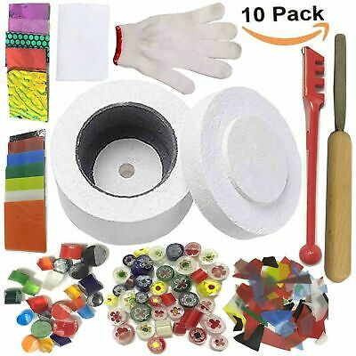 10X Stained Glass Fusing Supplies Microwave Kiln Kit Tool DIY Safety UK STOCK