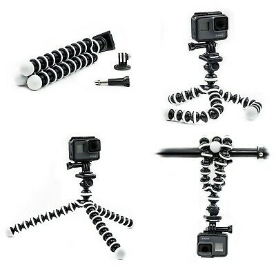 Octopus Flexible Montage Trépied Support pour GOPRO Hero 7 6 5 4 3 Action Cam Go