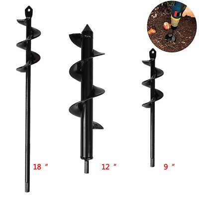 Garden Plant Flower Auger Drill Bits Rapid Planter Post or Umbrella Hole Digger