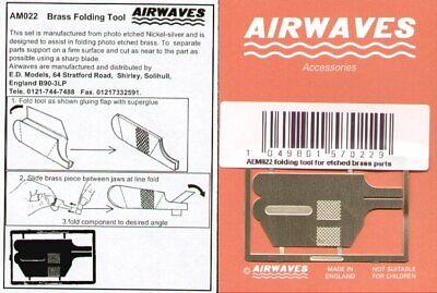 Airwaves etched brass folding / bending tool AEM022 ideal for 009 etch kits!