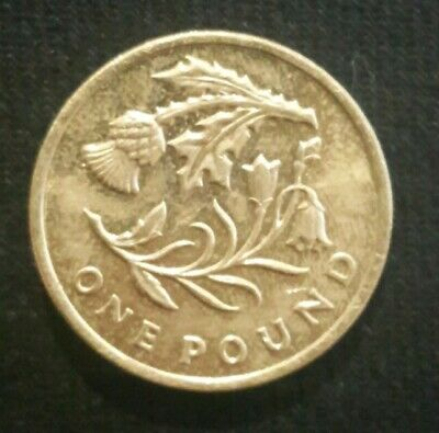 Scottish Floral £1 One Pound Coin Thistle And Bluebell