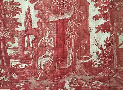 RARE 18th/19th CENTURY FRENCH ROMANTIC TOILE DE JOUY c1790s-1800 177.