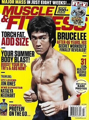Muscle And Fitness Magazine Bruce Lee Workouts Training Major Muscle Mass 2019