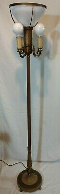"""Vintage Mogul Torchiere Candelabra Floor Lamp, Mutual Sunset Lamp Co. 62 1/2"""""""