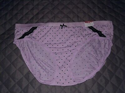 82712d50cc1a NEW CACIQUE Extra Soft Hipster 18/20 Purple Black Lace Lane Bryant Panty  Nylon