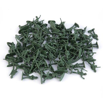 100pcs/Pack Military Plastic Toy Soldiers Army Men Figures 12 Poses Gift Fv
