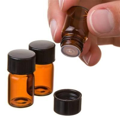 Practical 12 PCS 2 ml Amber Essential Oil Bottle With Orifice Reducer And Caps