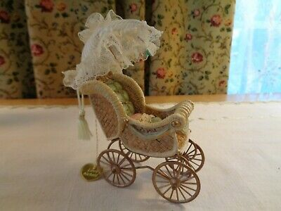 1999 House Of Louis Nichole Dollhouse Miniature Victorian Baby Carriage