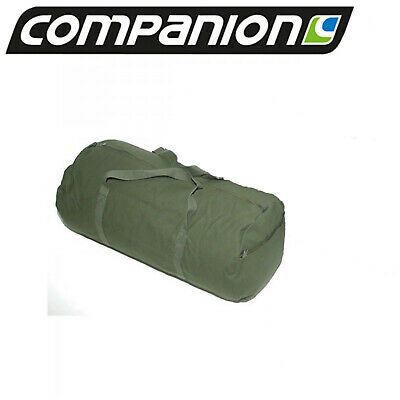 Canvas Duffle Bag X-Large Heavy Duty Green Carry Camping Outdoor Travel 72L New