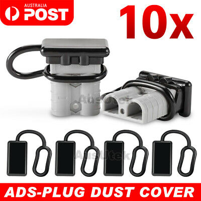 For Anderson Plug Cover Style Connectors 50AMP Battery Caravn Black Dust Cap 10x