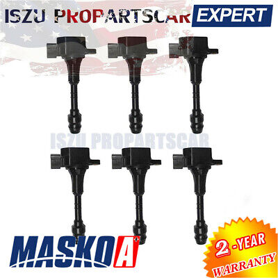 NEW IGNITION COIL 6 PACK For 2003 2004 Infiniti FX35 G35 M35