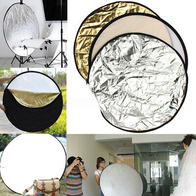 24 inch 60cm 5-in-1 Photography Studio Disc Collapsible Soft Light Reflector *UK