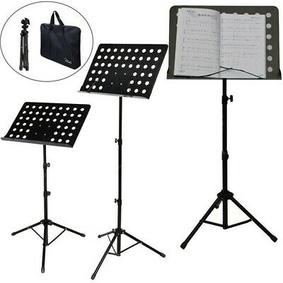 Professional Music Stand Sheet Folding Music Holder for Instrument Books W/ Bag