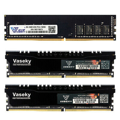 Vaseky DDR4 RAM Memory 4GB/8GB/16GB Desktop PC4-19200 17000 2400MHz 288P DIMM UK